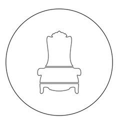 Throne icon black color in circle vector