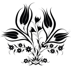traditional Ottoman design with a pattern of black vector image