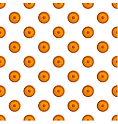 unhealthy biscuit pattern seamless vector image