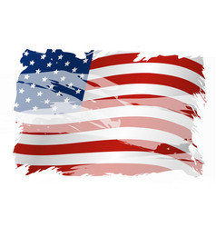 Usa background design of american flag vector