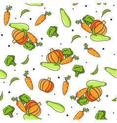 vegetables food pattern vector image