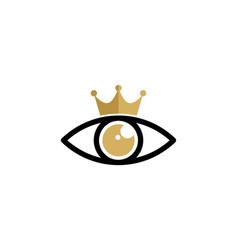 vision king logo icon design vector image