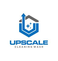 Wash clean service logo design vector