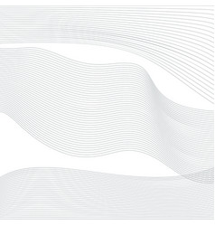 wave unusual gradient transparent lines vector image