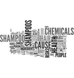 what s in your shampoo text word cloud concept vector image
