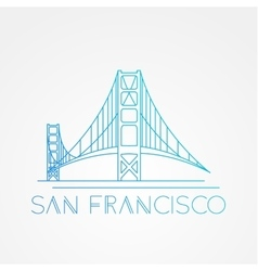 World famous Golden Gate bridge vector