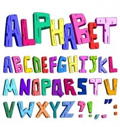 3d cartoon alphabet vector image vector image