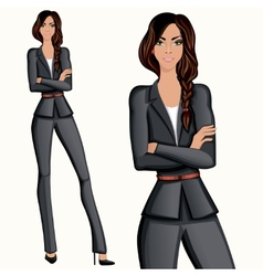 Business style attractive confident woman vector image