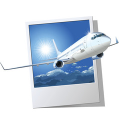 passenger Boeing 737 vector image vector image