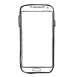 cartoon image of cellphone icon smartphone vector image vector image