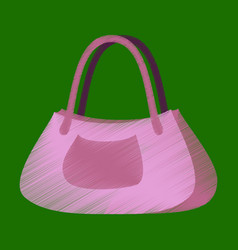 flat shading style icon clothes ladies handbag vector image vector image