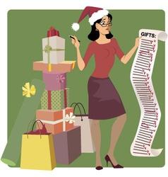 Holiday shopping vector image vector image