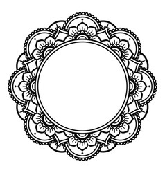 Mandala design mehndi henna tattoo inspired round vector