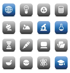 Matte buttons for science and education vector image vector image