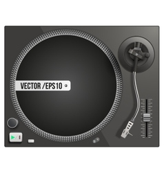 modern black turntable vector image