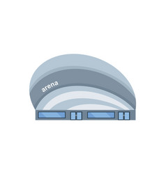 modern light building of the arena vector image