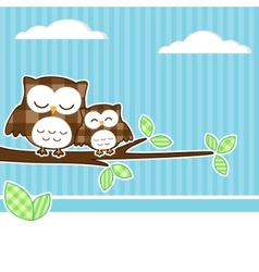owls on branch vector image vector image