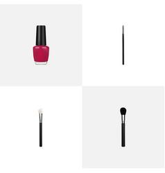 realistic powder blush beauty accessory contour vector image vector image