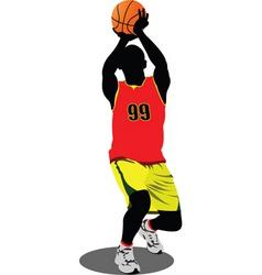 basketball player vector image vector image
