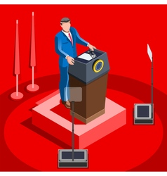 Election infographic lecture hall isometric people vector