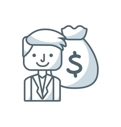 man person avatar flat icon vector image