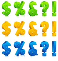 question exclamation percent and dollar signs vector image vector image