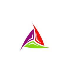 triangle spin colored logo vector image