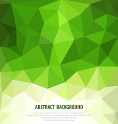 abstract green background with mosaic for business vector image vector image