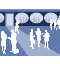 business scene vector image vector image