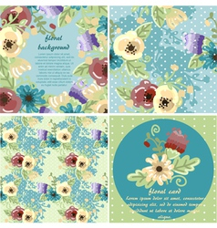 collection of flowers frames and seamless textures vector image vector image