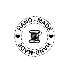 Hand-drawn retro hand-made badge vector image vector image
