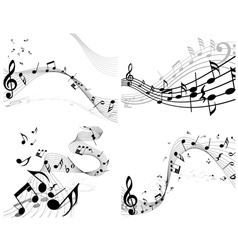 musical sheet set vector image vector image