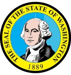 Washington state seal vector image vector image