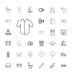 33 outline icons vector