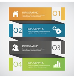 Abstract infographics vector image