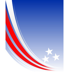 American abstract background frame vector