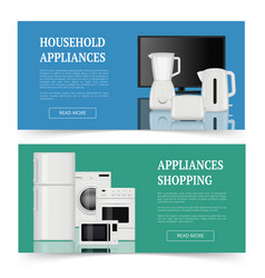 appliances shopping advertising of electrical vector image