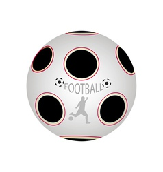Ball in soccer vector