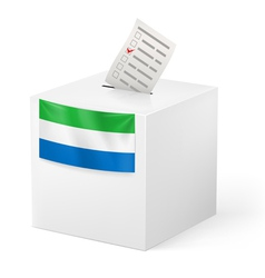 Ballot box with voting paper Sierra Leone vector