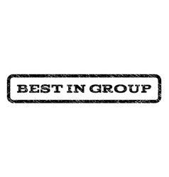 Best in group watermark stamp vector