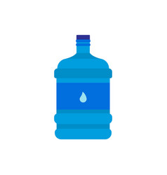 big bottle with water icon flat design vector image
