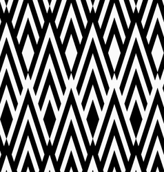 Black and white striped slim diamonds vector