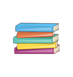 Books hard cover collection vector
