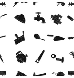 Build and repair pattern icons in black style Big vector