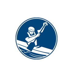 Canoe Slalom Circle Icon vector