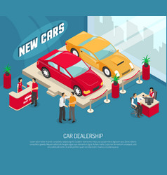 car dealership leasing composition vector image