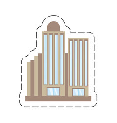 cartoon building corporate town vector image