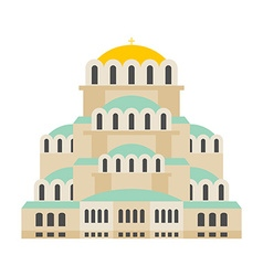 Church Of St Alexander Nevsky Patriarchal vector image