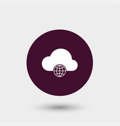cloud computing icon simple vector image