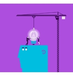 Concept of light bulb and gift vector